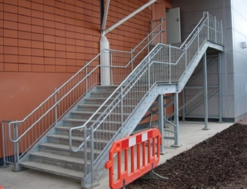Galvanised Fire Escape Stairs, Tesco